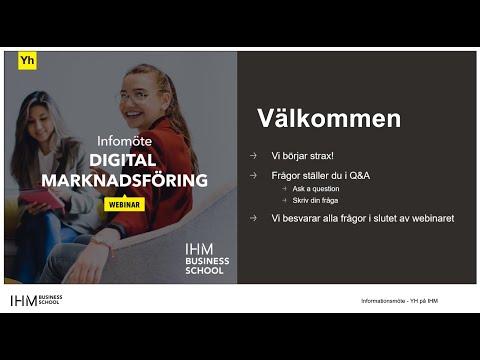 YH Infomöte - Digital marknadsföring