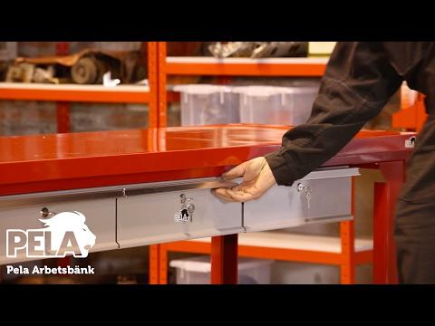 Pela Arbetsbänk med lådsats & hylla