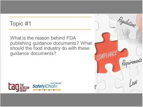 FSMA Fridays September 2016 - What FDA FSMA Guidance is Telling Us