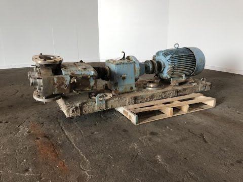 Used- Waukesha Rotary Positive Displacement Pump, Model 320 - stock # 47384098