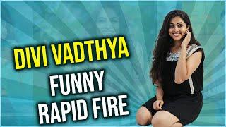 Bigg boss Telugu 4 Contestant Divi Vadthya Funny Rapid Fire | TFPC - TFPC