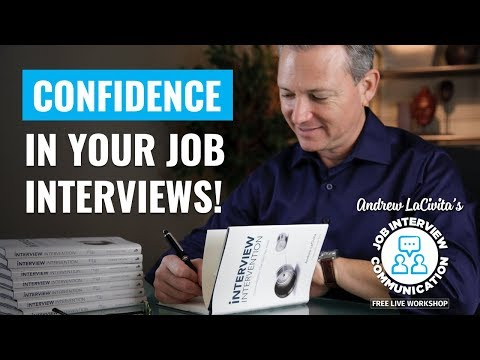 Job Interview Communication Workshop | Session 2 of 4 | Being Confident! photo