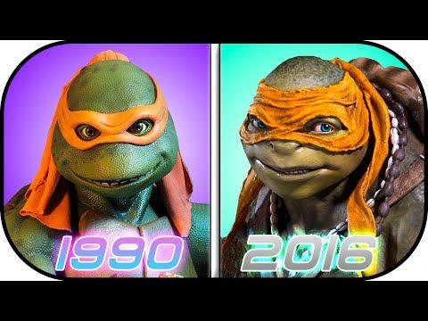 EVOLUTION of Ninja Turtles in Movies (1990-2016) Teenage Mutant Ninja Turtles History