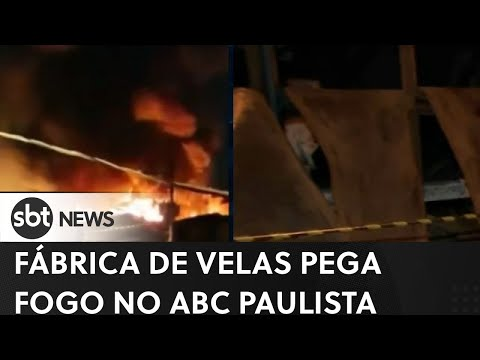 Incêndio atinge fábrica de velas no ABC paulista | SBT News