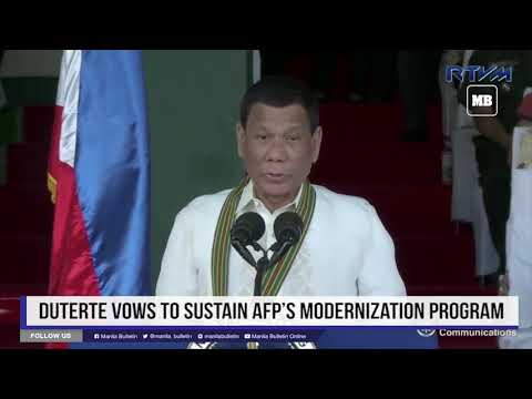 Duterte vows to sustain AFP's modernization program