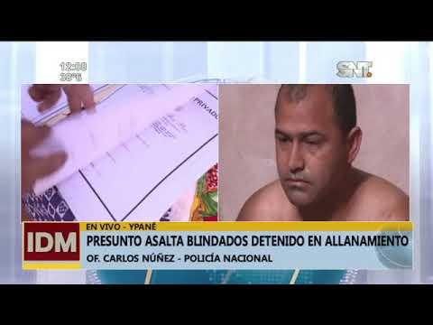 Presunto asalta blindados fueron detenidos en allanamiento en Ypané