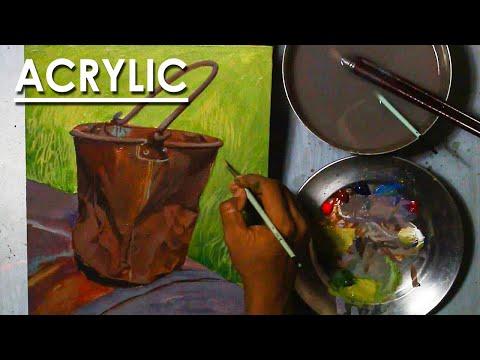 Acrylic Still Life Painting : Rusty Bucket