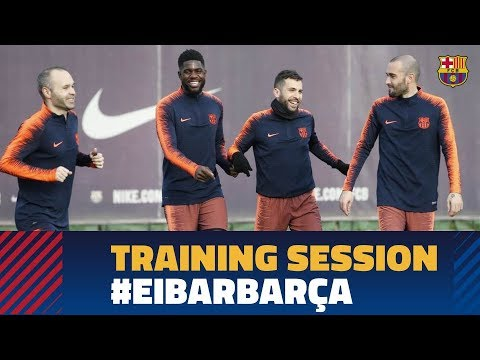 Last training session before the match against Eibar