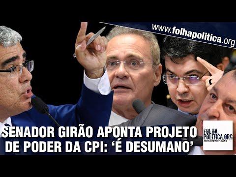Senador Eduardo Girão aponta projeto de poder de Renan, Randolfe e Omar na CPI: 'É desumano'