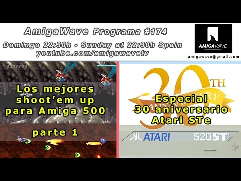 AmigaWave #174, los mejores shoot'em up Amiga 500 (vol1) y especial 30 aniversario Atari STe