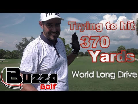 Trying to hit 370 Yards (World Long Drive)