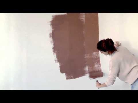 Hvordan male vegg med 2 farger