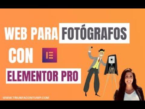 ➤ WEB PARA FOTÓGRAFOS  📷CON ELEMENTOR PRO 📉