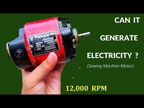 12,000 RPM - 220V Sewing Machine Motor ( Universal Motor ) Inside - Can it Generate Electricity ?