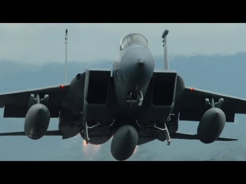 America is ALWAYS READY! USAF F-15 FIGHTER AIRCRAFT remain at heightened state of readiness!