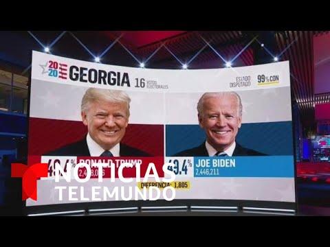 Joe Biden se acerca a Donald Trump en Georgia | Noticias Telemundo