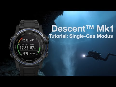Descent™ Mk1 Tutorial - Tauchen im Single-Gas Modus