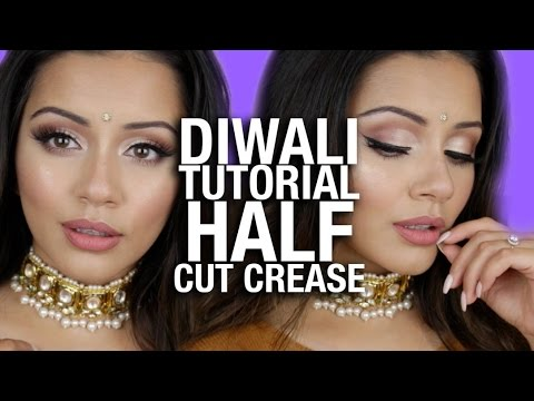 Diwali Makeup Tutorial 2016 | Half Cut Crease Tutorial