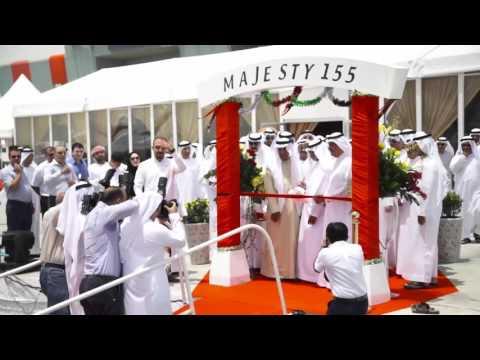 Majesty 155 Unveiling Video, Arabic subtitled اليخت الفاخر الماجستي 155 من جلف كرافت