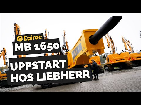 Vi startar upp en hydraulhammare hos Liebherr med Fredsund Maskin!|Epiroc MB 1650