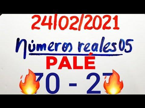 NÚMEROS PARA HOY 24/02/21 DE FEBRERO PARA TODAS LAS LOTERÍAS...!! Números reales 05 para hoy...!!