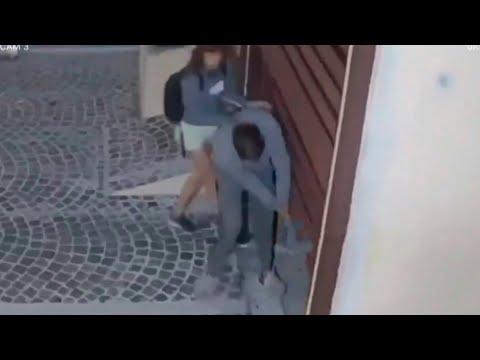 Pareja forzó un portón con el objetivo de robar bicicletas