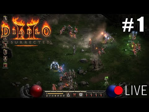 Diablo 2 Resurrected Beta - First Impressions Livestream Part 1