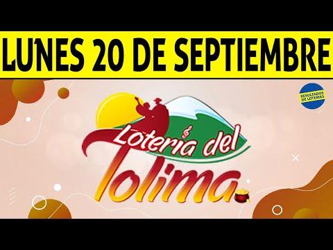 Resultados Lotería del TOLIMA Lunes 20 de Septiembre de 2021 | PREMIO MAYOR