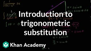 Introduction to trigonometric substitution