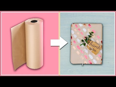 DIY Gift Wrapping Ideas For Anyone Who Doesn't Want To Be Basic 💁 / Easy Brown Paper Gift Wrapping