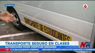 Transporte escolar seguirá estrictos protocolos en la vuelta a clases