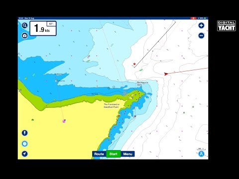 AIS targets on Navionics