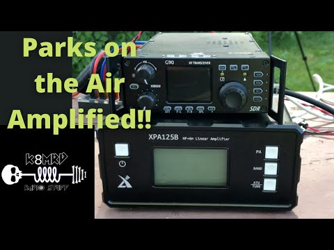 Xiegu XPA125B Ham Radio Amplifier portable Parks on the Air.