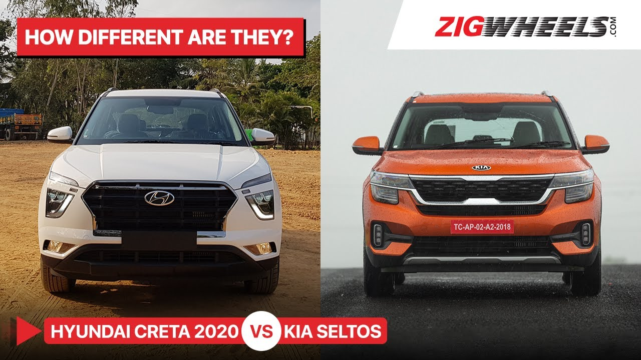 Hyundai Creta 2020 vs Kia Seltos | How Do I Pick One? | Zigwheels.com