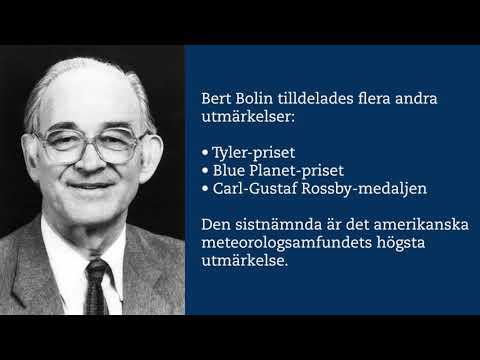 Bert Bolin – grundare av klimatpanel och världsledande vetenskapsman