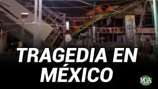 Se DESPLOMÓ el PUENTE del METRO y CAYÓ un TREN en MÉXICO