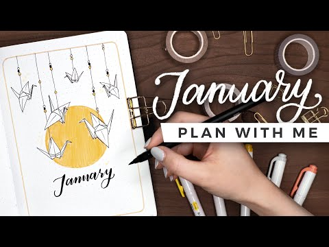 PLAN WITH ME | January 2021 Bullet Journal Setup