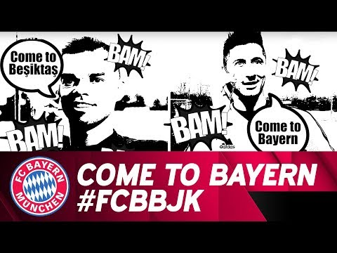 Lewandowski Rings Up Besiktas' Pepe: Come to Bayern! | #FCBBJK