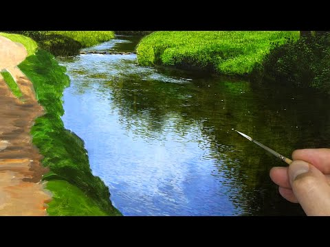 Painting a Landscape | River Details| Episode 139