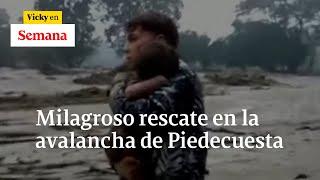 Padre de niño rescatado en avalancha,