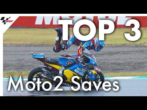 Top 3 spectacular saves in Moto2 from 2019