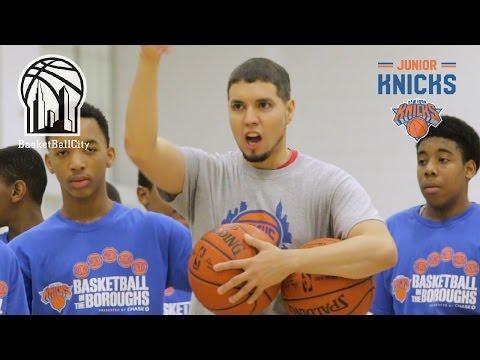 NY Knicks Basketball in the Boroughs Clinic