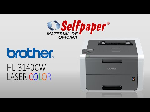 Impresora laser color Brother HL-3140CW, video HD, selfpaper.com