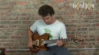 Melancon Custom Artist T Koa Guitar - Rosewood Neck and Flame Koa Top