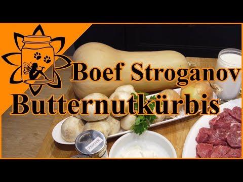 Boeuf Stroganoff   mit Butternut Kürbis Rezept