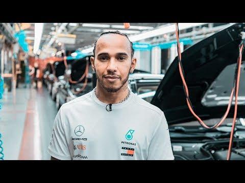 Lewis Visits the Mercedes-Benz Plant in Sindelfingen