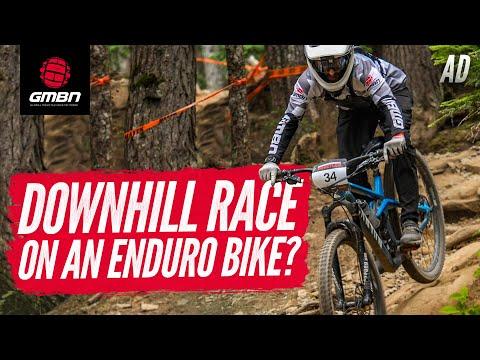 "Can You Race Downhill On An Enduro Bike"" | Neil Rides Garbanzo Downhill At Crankworx 2019"