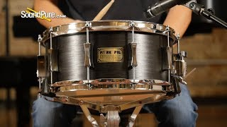 Pork Pie 6.5x14 Maple Snare Drum Ebony Veneer—Quick 'n' Dirty