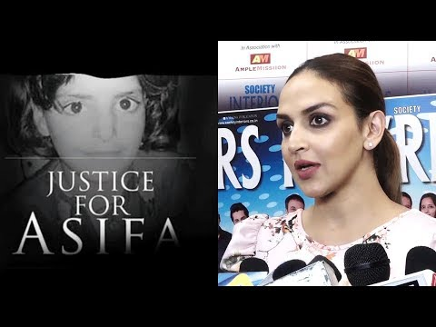 Esha Deol REACTS On Asifa Bano Shocking Incident | Kathua