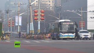 Pekín permanece desierta en medio del brote de coronavirus